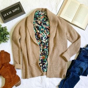 Gap Long Sleeved Camel Thick Cardigan Sweater